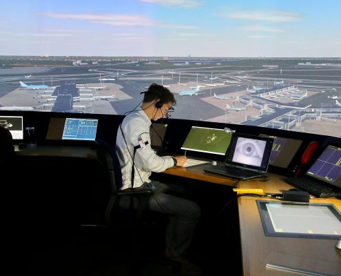 NLR Remote Eye tracker in NARSIM Tower